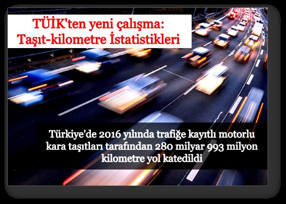 Otomobiller yılda ortalama 13 bin 117 kilometre yaptı