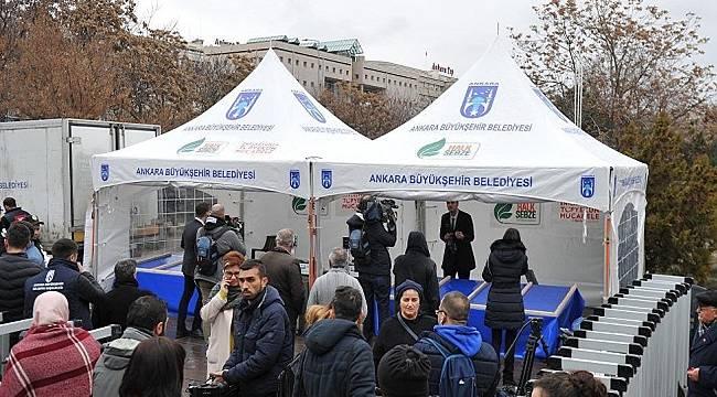 İlk tanzim satış çadırı kuruldu