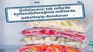 Tüketiciler: Gıdaları 1 seferde tüketeceğiniz şekilde paketleyin