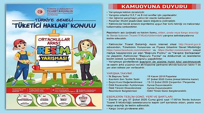 Türkiye Geneli Tüketici Hakları Konulu Resim Yarışması düzenleniyor!