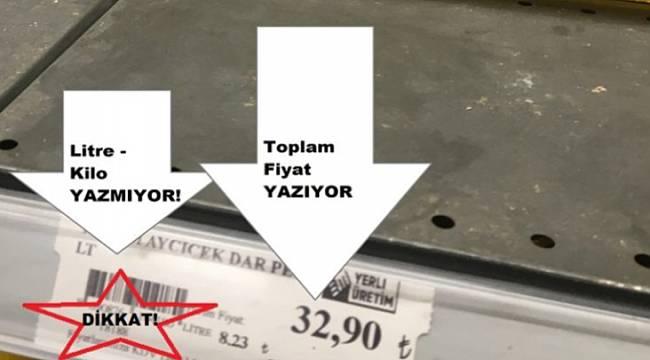 Marketlerde mutlaka fiyatı ve kiloyu kontrol edin!